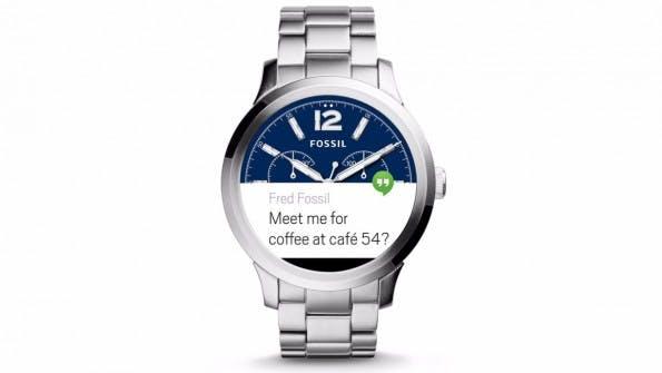 Nicht die erste Smartwatch von Fossil, aber die erste mit Android Wear. (Bild: Fossil)