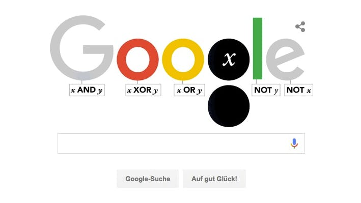 George Boole: Google Doodle feiert Booleschen Operator
