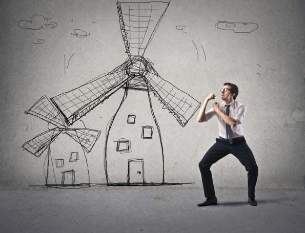 Kampf gegen Windmühlen: Denkt ihr überhaupt noch über Lösungen nach, oder nur noch über das Problem? (Foto: Shutterstock.com)