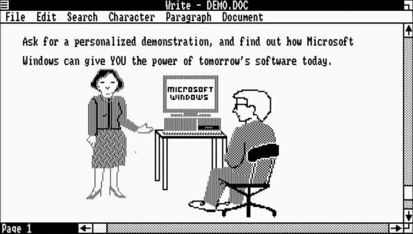 Windows 1.0 wurde am 20. November 1985 veröffentlicht. (Screenshot: Winhistory.de)