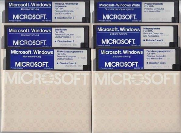Windows 1.0 auf Diskette. (Foto: Winhistory.de)