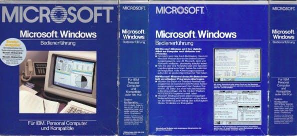 Ausgeliefert wurde Windows 1.0 klassisch in einer Pappschachtel und auf den mittlerweile überholten Disketten. (Foto: Winhistory.de)
