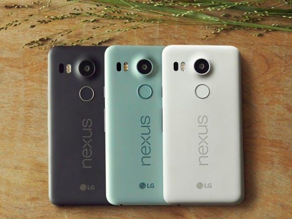 Das Nexus 5X wird in drei Farben angeboten. (Foto: Google)