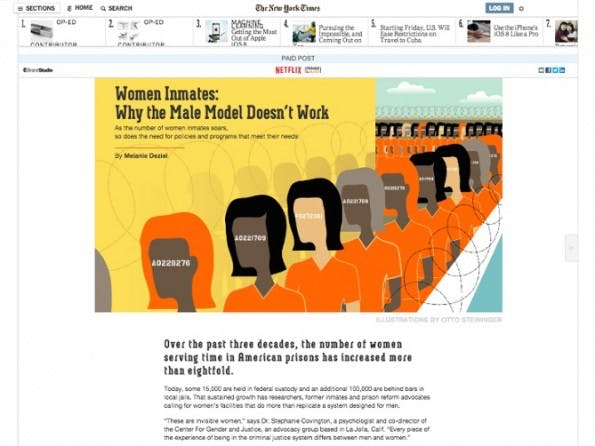 Netflix und die NY Times (Screenshot: blog.hubspot.com)
