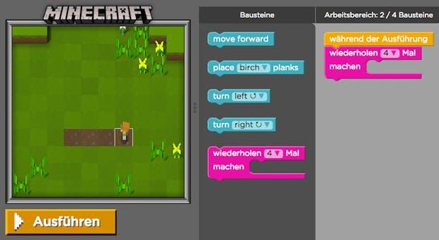 Programmieren lernen mit Minecraft: Dieses Game vermittelt erste Basics für Anfänger
