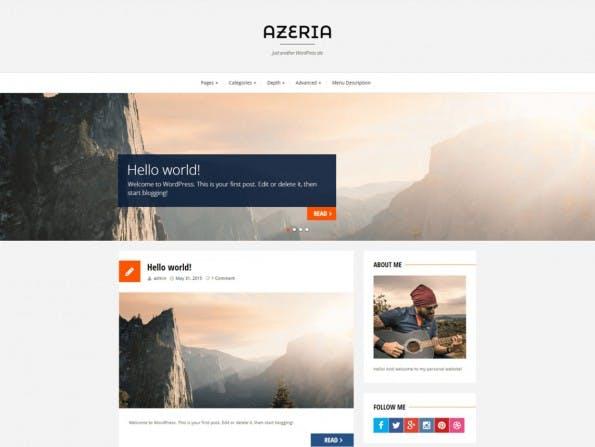 Azeria legt den Fokus wieder auf Bild-Präsentation. (Screenshot: WordPress.org)