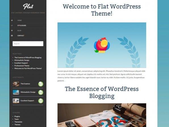 Flat verzichtet auf alles Räumliche. (Screenshot: WordPress.org)