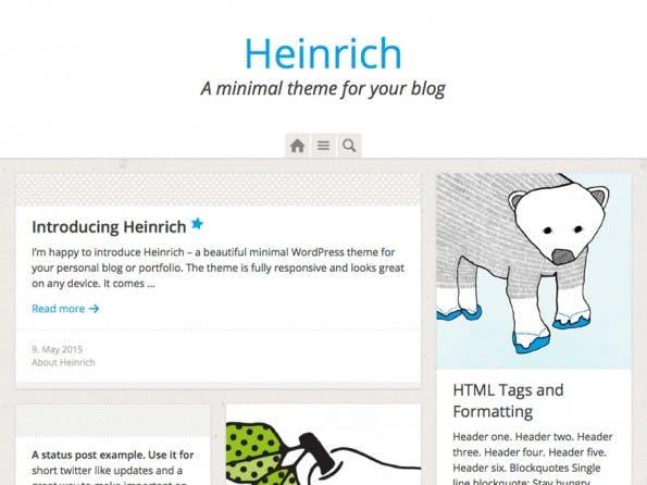 Das kostenlose Heinrich-WordPress-Theme. (Screenshot: WordPress.org)
