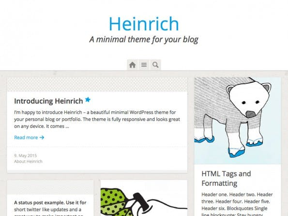 Das kostenlose Heinrich-WordPress-Theme. (Screenshot: WordPress.org)