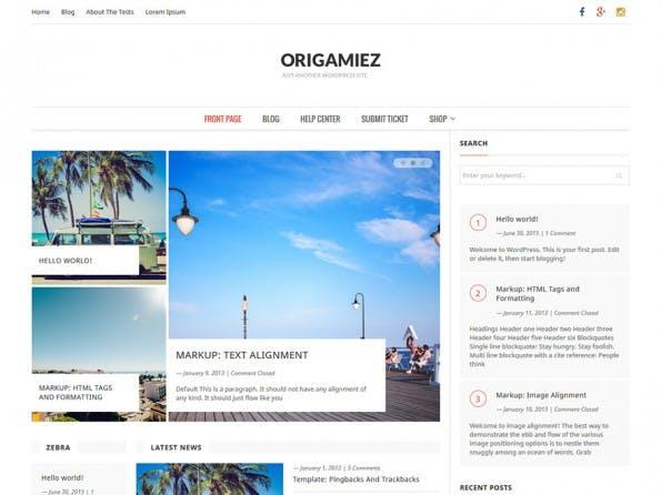 Origamiez. (Screenshot: WordPress.org)