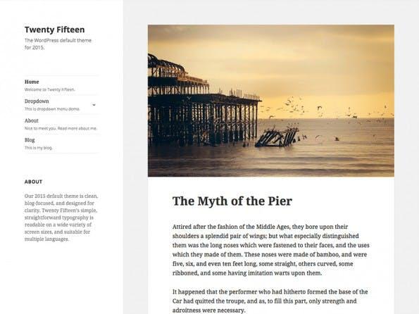 Das Standard-Theme des letzten Jahres. (Screenshot: WordPress.org)