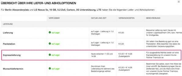 Same-Day-Delivery bei Saturn und Media Markt geht ab sofort noch schneller.  (Screenshot: Saturn)