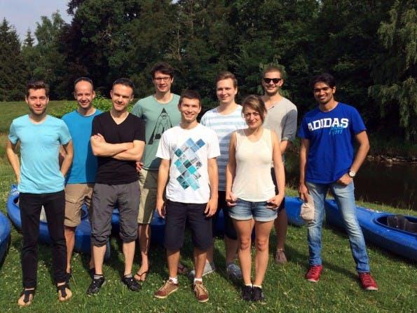 Das Team hinter der Mitarbeiter-App. (Foto: Eyo)