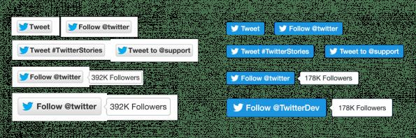 Ohne Zähler: Das sind die neuen Twitter-Follow-Buttons. (Bild: Twitter)