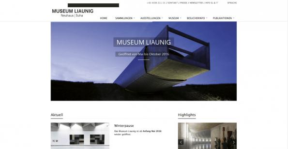 Museum Liaunig setzt auf TYPO3-NEOS. (Screenshot t3n)