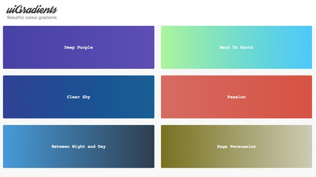 Inspiration gesucht? uiGradients für UI-Designer präsentiert schicke Farbverläufe