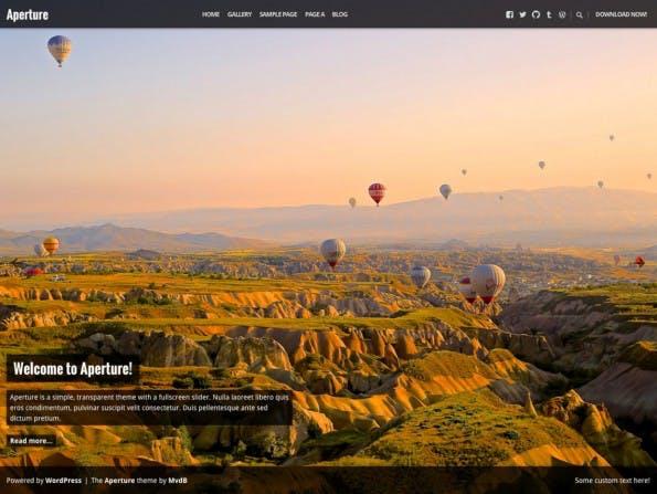 Richtet sich an Fotografen: Aperture. (Screenshot: WordPress.org)
