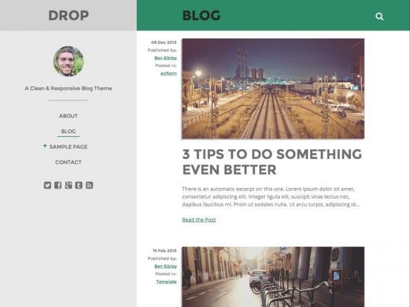 Das responsive Drop-Theme. (Screenshot: WordPress.org)