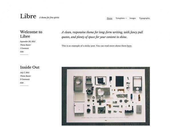 Das Theme richtet sich an Vielschreiber und setzt den Fokus entsprechend. (Screenshot: WordPress.org)