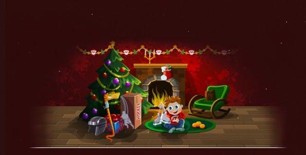 Weihnachts-Plugin: Schnee für eure WordPress-Seite. (Screenshot: loktar00.github.io)