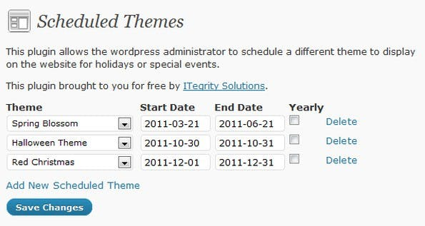 Mit dem WordPress-Plugin könnt ihr Themes für die Weihnachtszeit planen. (Screenshot: wordpress.org)