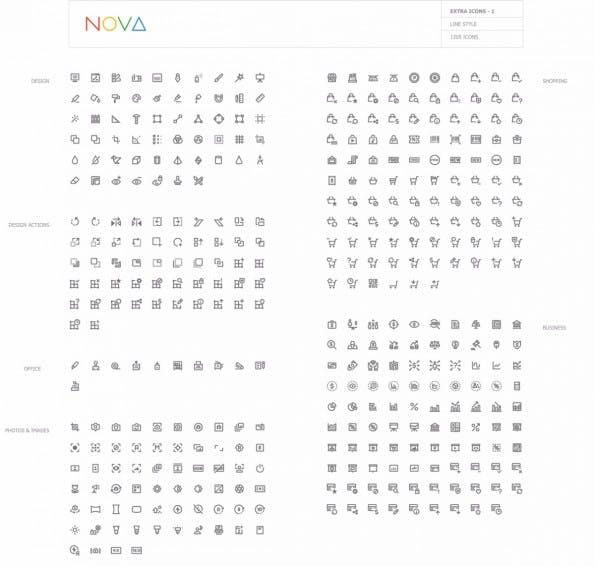 Kostenlose Icons für dein Projekt: 350 Material-Design-Symbole zum Download. (Screenshot: Webalys.com)