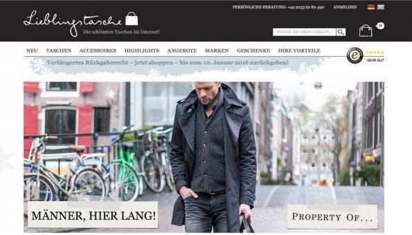 (Screenshot: Lieblingstasche.de)