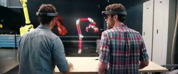 Hologramme: Virtual Reality soll 3D-Design optimieren. (Screenshot: YouTube/Microsoft)