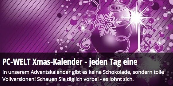 adventskalender 2015 PC Welt Software