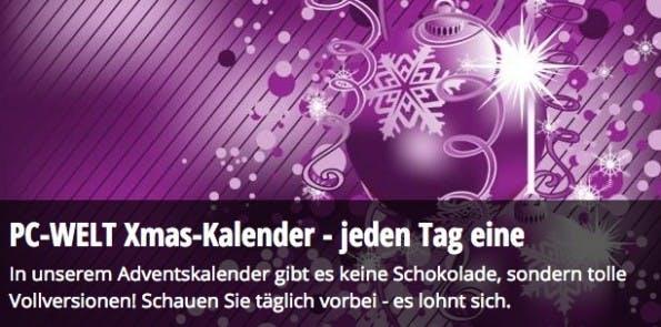adventskalender 2015 PC Welt Software