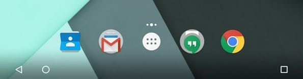 So sieht die neue Anordnung der Onscreen-Buttons unter Android 6.0.1 aus. (Screenshot: t3n)