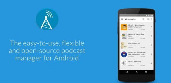 AntennaPod – kostenlose Podcast-App (Bild: Antennapod)