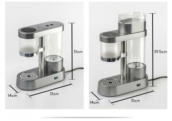 Auroma: Die smarte Kaffeemaschine kann per App gesteuert werden. (Grafik: Auroma)