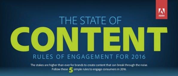 State of Content 2016: Adobe-Studie veröffentlicht 5 Regeln für Inhalte. (Infografik: Adobe)