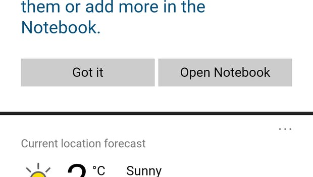 Cortana für Android (Screenshot: t3n.de)