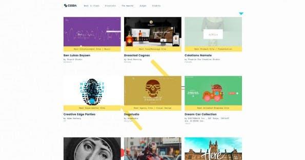 CSS-Design-Awards 2015: Auch in den Nebenkategorien finden sich einige sehr spannende Websites. (Screenshot: cssdesignawards.com)