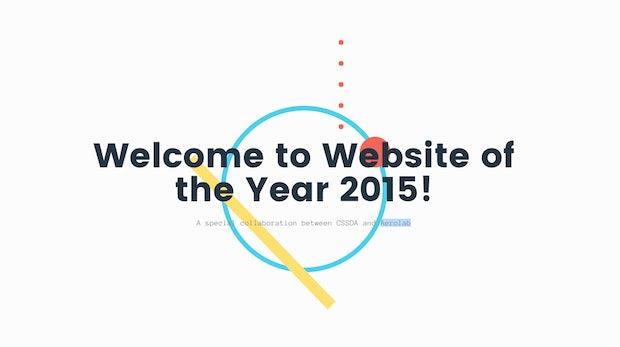 Die besten Websites des Jahres: Die CSS-Design-Awards 2015