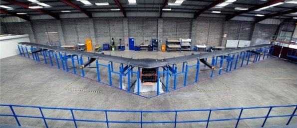 2015 testete Facebook die ersten Internet-Drohnen. (Bild: Internet.org)