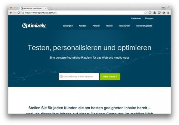 Optimizely bietet auch im kostenlosen Paket die wichtigsten Funktionen einer A/B-Testing-Software. (Screenshot: t3n)
