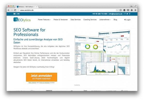 SEOlytics bietet als eine ordentliche, kostenlose Lösung. (Screenshot: t3n)