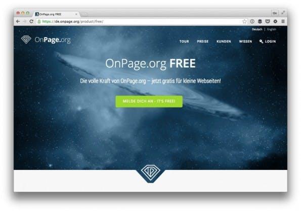 Die kostenlose Analyse von OnPage.org FREE kann sich sehen lassen. (Screenshot: t3n)