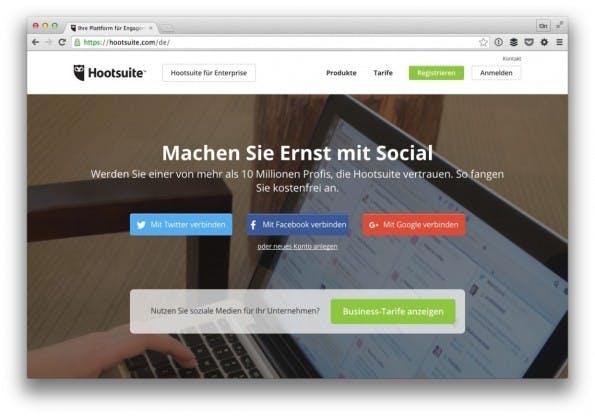 In der kostenlosen Version taugt Hootsuite zum rudimentären Monitoring der sozialen Netzwerke. (Screenshot: t3n)