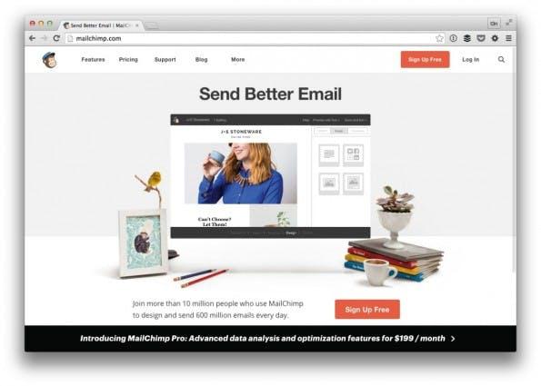 Mailchimp ist der wahrscheinlich gängigste Webdienst zum Erstellen und Verwalten von Newslettern und Mailings. (Screenshot: t3n)