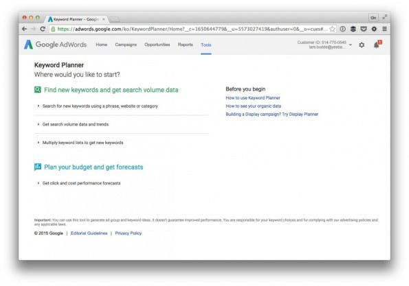 Google bietet mit dem Keyword Planer ein Indiz für die Bedeutung einzelner Keywords. (Screenshot: t3n)