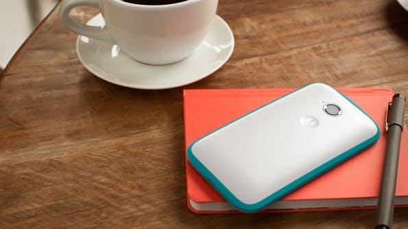 Das günstig nicht hässlich sein muss, beweist Motorola mit seinem Moto E. (Bild: Motorola)