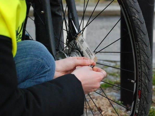 Das RFID-System für Radfahrer von ID-Advice. (Foto: ID-Advice)