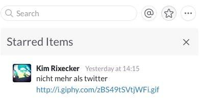 Damit nichts verloren geht, könnt ihr bestimmte Nachrichten favorisieren. (Screenshot: t3n, Slack