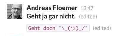 In Slack könnt ihr auch Text formatieren. (Screenshot: t3n, Slack)