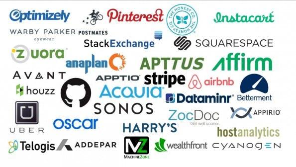 Github, Pinterest, Uber und Airbnb: Laut CB Insights sind alle diese Startups Börsenkandidaten 2016. (Grafik: CB Insights)