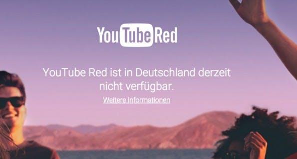 YouTube Red: Deutsche Kunden gucken in die Röhre. (Screenshot: YouTube)